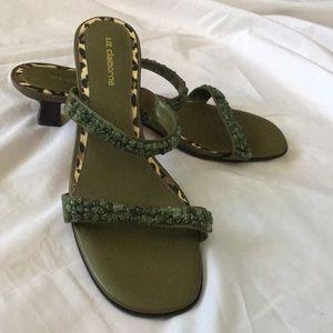 Liz Claiborne Bead Embellished Sandals Never Worn